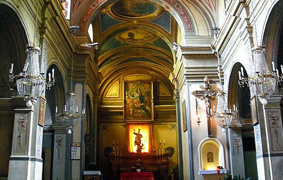 Interno della chiesa parrocchiale di San Giorgio
